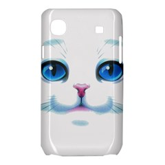 Cute White Cat Blue Eyes Face Samsung Galaxy SL i9003 Hardshell Case