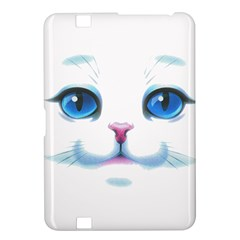 Cute White Cat Blue Eyes Face Kindle Fire HD 8.9