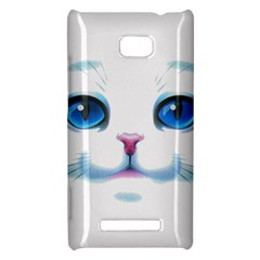 Cute White Cat Blue Eyes Face HTC 8X