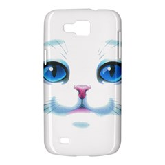 Cute White Cat Blue Eyes Face Samsung Galaxy Premier I9260 Hardshell Case