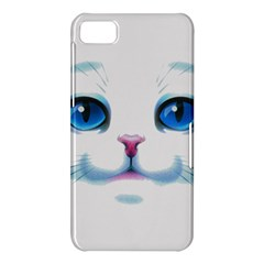 Cute White Cat Blue Eyes Face BlackBerry Z10