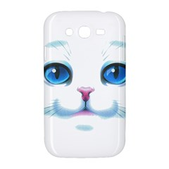 Cute White Cat Blue Eyes Face Samsung Galaxy Grand DUOS I9082 Hardshell Case
