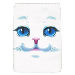 Cute White Cat Blue Eyes Face Flap Covers (S)