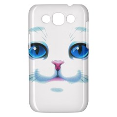 Cute White Cat Blue Eyes Face Samsung Galaxy Win I8550 Hardshell Case