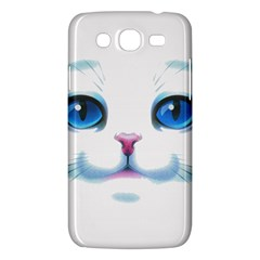 Cute White Cat Blue Eyes Face Samsung Galaxy Mega 5.8 I9152 Hardshell Case