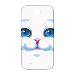 Cute White Cat Blue Eyes Face Samsung Galaxy S4 I9500/I9505  Hardshell Back Case