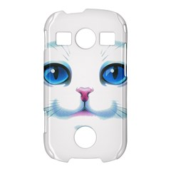 Cute White Cat Blue Eyes Face Samsung Galaxy S7710 Xcover 2 Hardshell Case