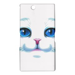 Cute White Cat Blue Eyes Face Sony Xperia Z Ultra