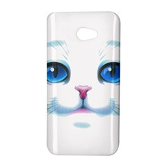 Cute White Cat Blue Eyes Face HTC Butterfly S/HTC 9060 Hardshell Case