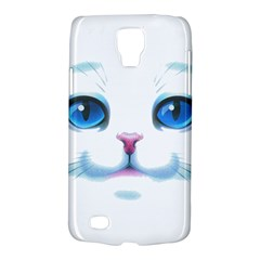 Cute White Cat Blue Eyes Face Galaxy S4 Active