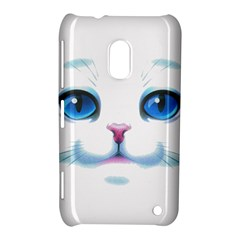 Cute White Cat Blue Eyes Face Nokia Lumia 620