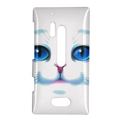 Cute White Cat Blue Eyes Face Nokia Lumia 928