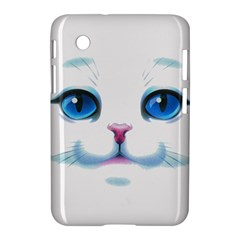 Cute White Cat Blue Eyes Face Samsung Galaxy Tab 2 (7 ) P3100 Hardshell Case