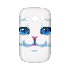 Cute White Cat Blue Eyes Face Samsung Galaxy S6810 Hardshell Case