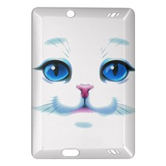 Cute White Cat Blue Eyes Face Amazon Kindle Fire HD (2013) Hardshell Case