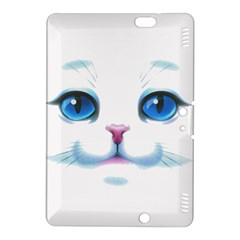 Cute White Cat Blue Eyes Face Kindle Fire HDX 8.9  Hardshell Case