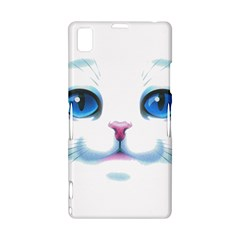 Cute White Cat Blue Eyes Face Sony Xperia Z1