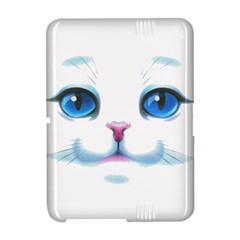 Cute White Cat Blue Eyes Face Amazon Kindle Fire (2012) Hardshell Case