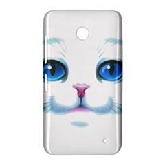 Cute White Cat Blue Eyes Face Nokia Lumia 630