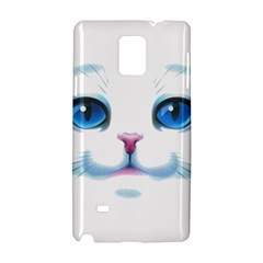 Cute White Cat Blue Eyes Face Samsung Galaxy Note 4 Hardshell Case