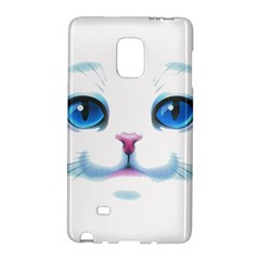 Cute White Cat Blue Eyes Face Galaxy Note Edge