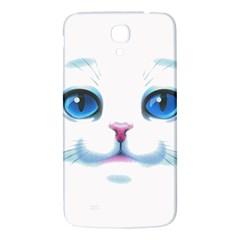 Cute White Cat Blue Eyes Face Samsung Galaxy Mega I9200 Hardshell Back Case
