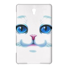 Cute White Cat Blue Eyes Face Samsung Galaxy Tab S (8.4 ) Hardshell Case