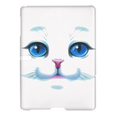 Cute White Cat Blue Eyes Face Samsung Galaxy Tab S (10.5 ) Hardshell Case