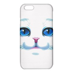 Cute White Cat Blue Eyes Face iPhone 6/6S TPU Case