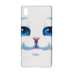 Cute White Cat Blue Eyes Face Sony Xperia Z3+
