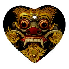Bali Mask Ornament (Heart)