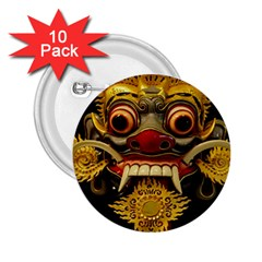 Bali Mask 2.25  Buttons (10 pack)