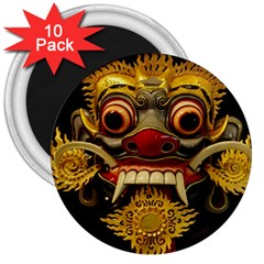 Bali Mask 3  Magnets (10 pack)