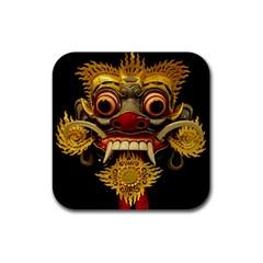 Bali Mask Rubber Coaster (Square)