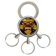 Bali Mask 3-Ring Key Chains