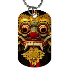 Bali Mask Dog Tag (One Side)