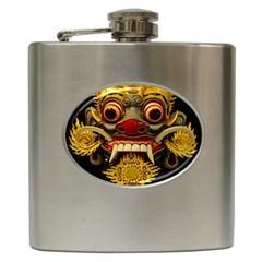 Bali Mask Hip Flask (6 oz)