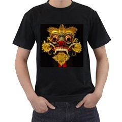 Bali Mask Men s T-Shirt (Black) (Two Sided)