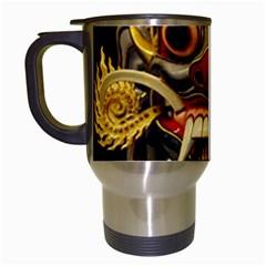 Bali Mask Travel Mugs (White)