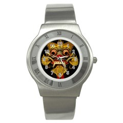 Bali Mask Stainless Steel Watch