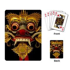Bali Mask Playing Card