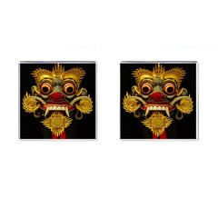 Bali Mask Cufflinks (Square)