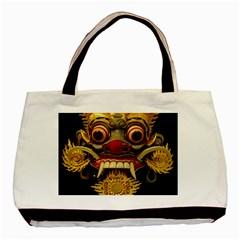 Bali Mask Basic Tote Bag