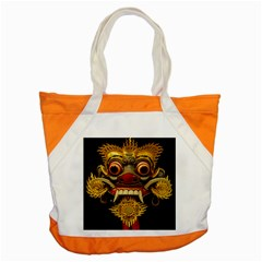 Bali Mask Accent Tote Bag