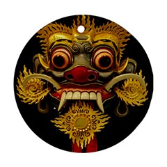 Bali Mask Round Ornament (Two Sides)
