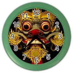 Bali Mask Color Wall Clocks