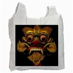 Bali Mask Recycle Bag (One Side)