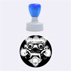 Bali Mask Rubber Round Stamps (Medium)