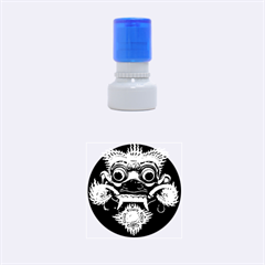Bali Mask Rubber Round Stamps (Small)