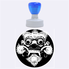 Bali Mask Rubber Round Stamps (Large)